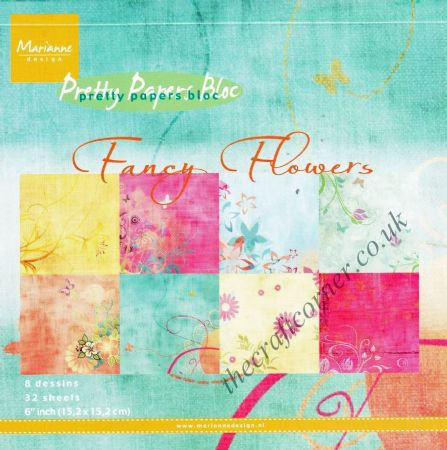 "Fancy Flowers Pretty Papers Bloc 6"" x 6"" 32 Sheets Paper Pad"
